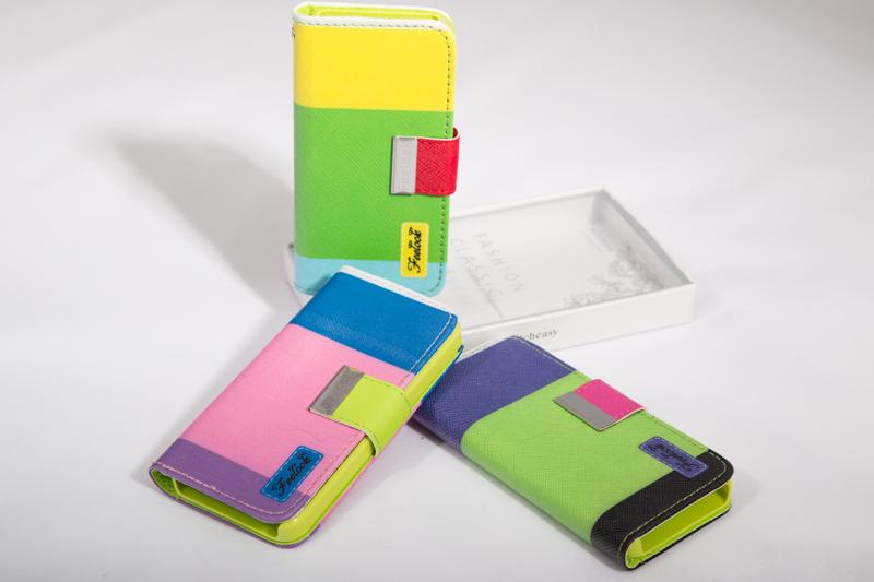 Чехол-книжка кожаный для iPhone 5, 5S цветной (арт. Iphone514)