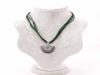 Кулон-подвеска с эмалью серебрянного цвета арт.123