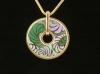 Кулон-подвеска с эмалью золотого цвета арт.127